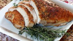Juicy Turkey breast in the oven