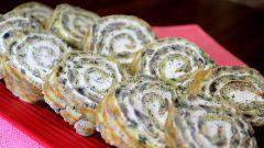 Яичные рулеты с грибами