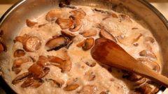 Сочные грибы в молочной заливке