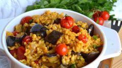 Запеченный с овощами булгур