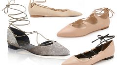 Wear correct ballet shoes lace-up