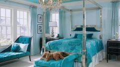 Делаем интерьер спальни в бирюзовом цвете