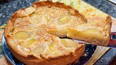 Как приготовить фруктовый пирог с грушами
