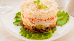 Салат «Грибочки под шубой»