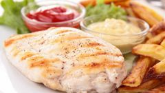 Versions of dieting on chicken breast