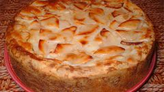 Бананово-яблочный пирог
