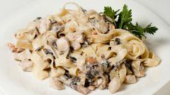Паста с грибами и сливочным соусом