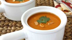 Овощной суп-пюре с арахисом
