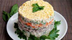 Слоеный салат из овощей