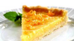 Охлажденный лимонный пирог