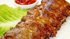 Запеченные говяжьи ребра в горчично-медовом соусе