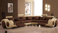 Необычный диван - основная часть интерьера