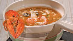 Суп с рыбой и раками