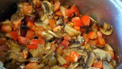 Рагу из грибов и сладкого перца