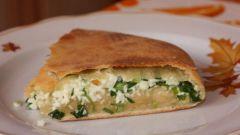 Пирожки с начинкой из зелени и сыра «сулугуни»