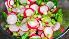 Салат с рисом и редисом