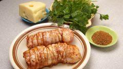 Как приготовить куриные рулетики с начинкой из болгарского перца
