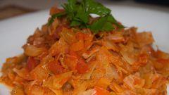 Пряный салат с капустой