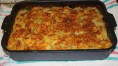 Картофельная запеканка с мясным фаршем и беконом