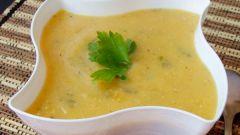 Диетический суп-пюре из кабачков