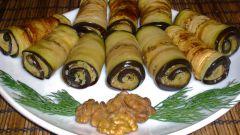 Пикантная закуска из баклажанов с орехами