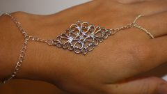 Стильное украшение: браслет-кольцо