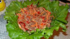 Салат с корейской морковью и говядиной