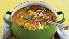 Суп из индейки с луком-пореем