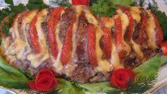 Как запечь свинину с грушей (помидором, сыром или ветчиной)