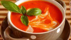 Как приготовить томатный суп-пюре со сливками