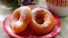 Как приготовить пончики на кефире за 15 минут