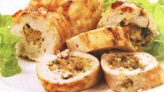 Как приготовить куриные рулетики с грибами и сыром в духовке