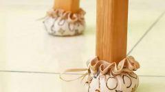 Как просто сшить чехлы на ножки стула в стиле шебби-шик
