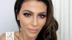 Как сделать дневной макияж для карих глаз