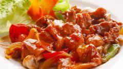 Как приготовить курицу в соусе терияки с болгарским перцем
