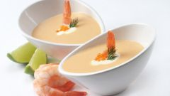 Как приготовить суп-пюре с креветками и сливками