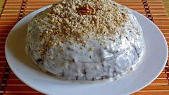 Как приготовить шоколадный торт с грецкими орехами