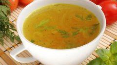 Как приготовить диетический суп на курином бульоне