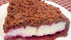 Как приготовить творожный пирог с шоколадной крошкой