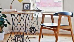 Как украсить интерьер дома с помощью старой ножной швейной машинки
