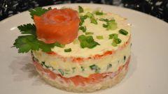 Как приготовить вкусные салаты с красной рыбой на Новый год