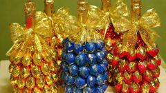 Как сделать подарок из конфет своими руками на Новый год