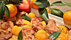 Как приготовить курицу с мандаринами в духовке