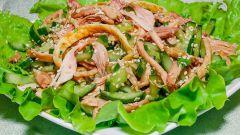 Как приготовить корейский салат с курицей и соевым соусом