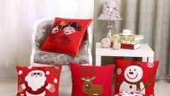 Как сделать новогодние декоративные подушки