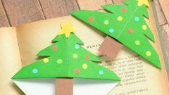 Как просто сделать закладку в форме новогодней елочки