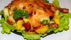 Как приготовить курицу, фаршированную грибами