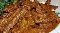 Как вкусно приготовить бефстроганов из говядины