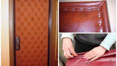 Как сделать обшивку двери дерматином своими руками