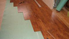 Как сделать укладку ламината на бетонный пол с подложкой